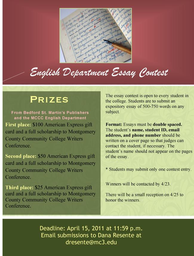 College essay contests