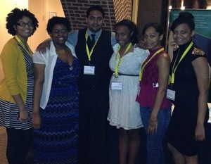 Some of the College's ASL members at the conference. Submitted photo