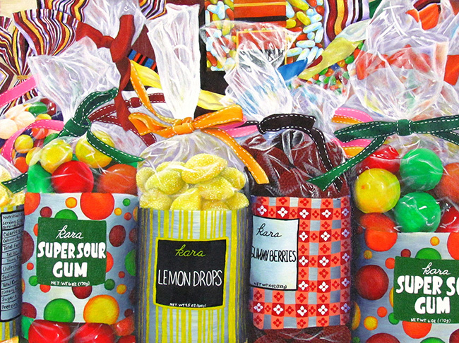 """Kid in a Candy Store,"" acrylic painting by Phoebe Mikalonis, Spring-Ford High School"