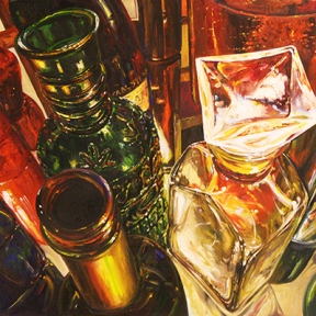"""Reflections of Glasses,"" a painting by Taekyung (April) Do, from last year's exhibit."