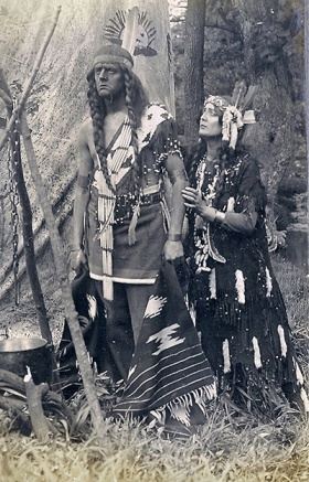 Actor Harry Myers portraying Red Eagle in one of Lubin's films
