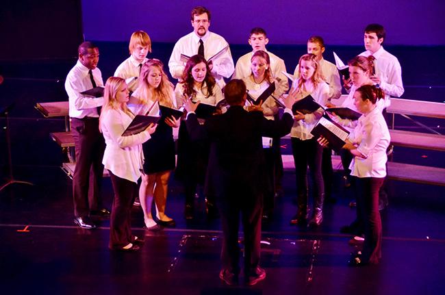 A Choir performance from last year's Showcase. Photo by Matt Carlin