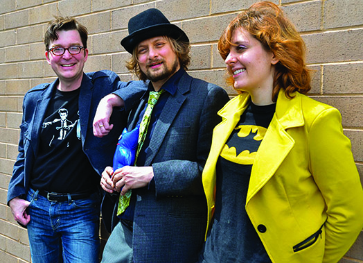 """MCCC's Marc Schuster, Thomas Powers and Amanda Banaszewksi will be sharing some of their works in Madhouse Theater Company's upcoming """"MCCC Turns 50!"""" Jan. 23 and 25. Photo Courtesy of Madhouse Theater Company."""