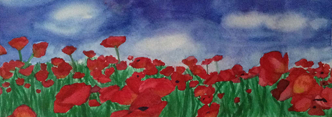 "Lexi Lyon of Owen J. Roberts High School will be exhibiting her watercolor painting, ""Poppies."""