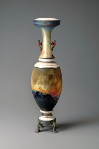 Adjunct art faculty Peter Quinn's Raku-fired vase.
