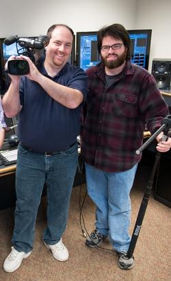 Montgomery County Community College alumni Joseph Sapienza and Sean King. Photo by Sandi Yanisko