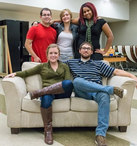 """Rabbit Hole"" cast includes Myasia Bynum, Carly Watson, Ron Quay, Sarah Koch, and Andrew Miller and is directed by Tim Gallagher. Photo by Sandi Yanisko"