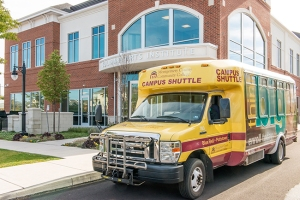 The College's Campus Shuttle at the Culinary Arts Institute in Lansdale. Photo by Sandi Yanisko