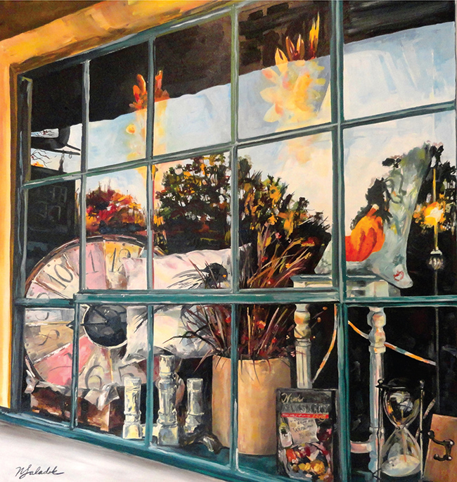 """""""Skippack Window,"""" oil painting, by Nancy Saladik"""